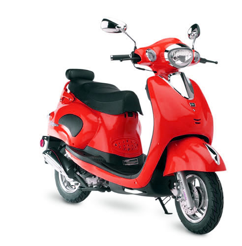 Geely and jalon motorized scooters 4 stroke gas powered for Gas powered motorized scooter
